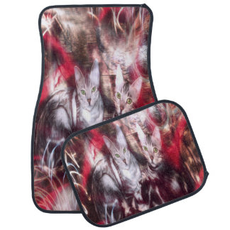Bengal Cats of the Inner City Graffiti Car Mat