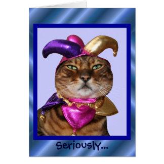 Bengal Joker Cat Card
