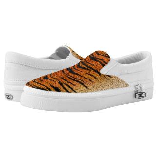 Bengal Tiger Animal Fur Slip On Shoes