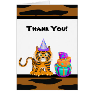 Bengal Tiger Animal Print Thank You Card