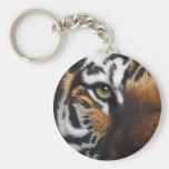 Bengal Tiger Basic Round Button Key Ring