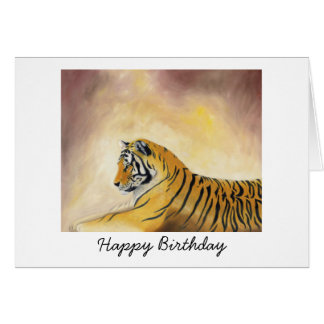 Bengal Tiger Birthday Card