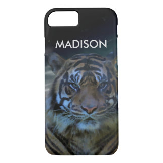 Bengal Tiger | Monogram Watercolor Wild Animals iPhone 8/7 Case