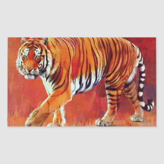 Bengal Tiger Rectangular Sticker