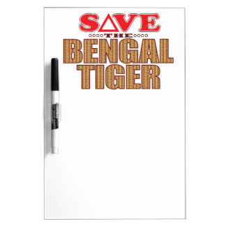 Bengal Tiger Save Dry Erase Board