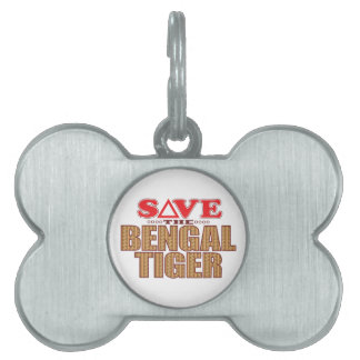 Bengal Tiger Save Pet Tag