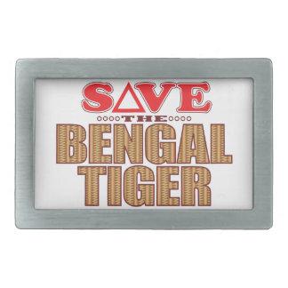Bengal Tiger Save Rectangular Belt Buckles