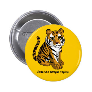 Bengal Tigers 6 Cm Round Badge