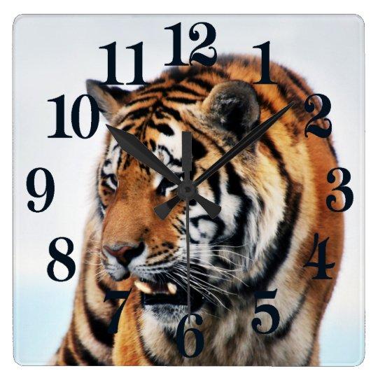 Bengal Tigers Wild Life Square Wall Clock