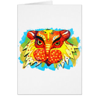 Bengali New Years Lion Design Gifts & Phone Cases Greeting Card
