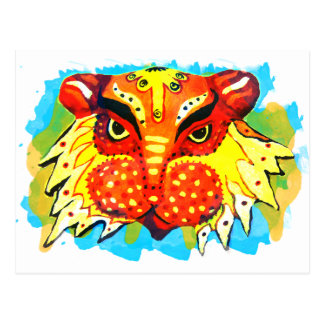 Bengali New Years Lion Design Gifts & Phone Cases Postcard