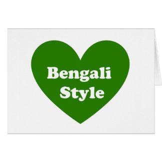 Bengali Style Card