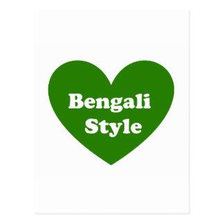 Bengali Style Postcard