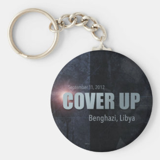 Benghazi Cover Up Basic Round Button Key Ring