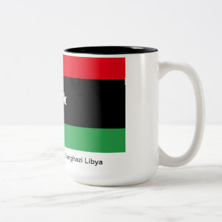 Benghazi Libya Two-Tone Mug