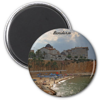 Benidorm 6 Cm Round Magnet