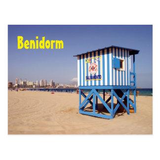 Benidorm, beach of the West Postcard