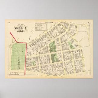 Benificent Church Cemetery and Elba Mills Atlas Poster