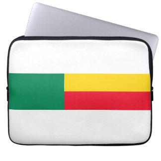 benin country long flag nation symbol laptop sleeve