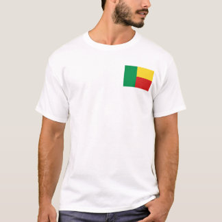 Benin Flag and Map T-Shirt