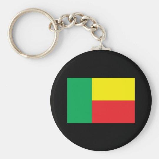 Benin Flag Basic Round Button Key Ring
