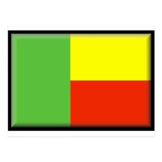 Benin Flag Postcard