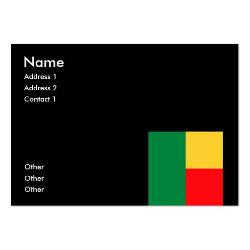 Benin Large Business Cards (Pack Of 100)