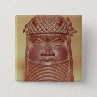 Benin mask 15 cm square badge