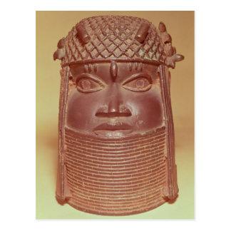 Benin mask postcard
