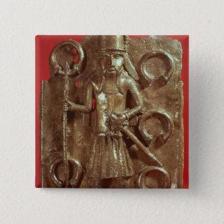 Benin plaque 15 cm square badge
