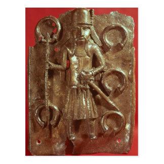 Benin plaque postcard