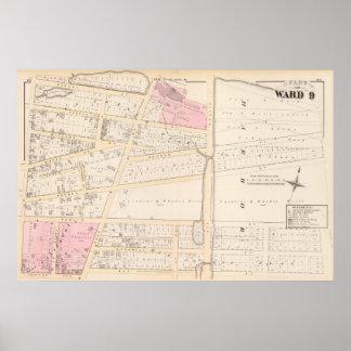Benjamin Allen's Plat and James Fenn Atlas Map Poster