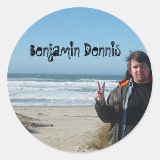 Benjamin Dennis Peace Stickers