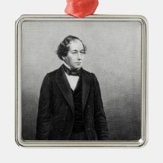 Benjamin Disraeli Silver-Colored Square Decoration