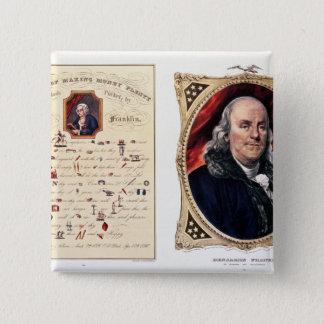 Benjamin Franklin  1847 15 Cm Square Badge