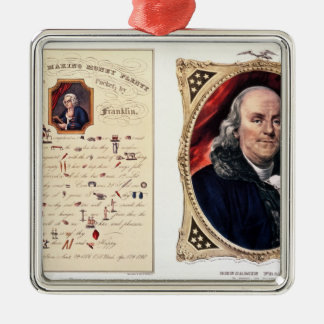 Benjamin Franklin  1847 Christmas Ornament