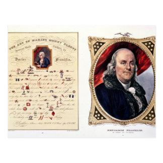 Benjamin Franklin  1847 Postcard
