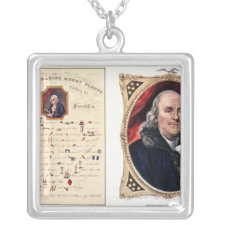 Benjamin Franklin  1847 Silver Plated Necklace