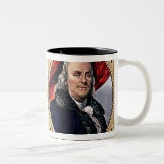 Benjamin Franklin  1847 Two-Tone Coffee Mug