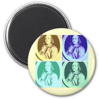 Benjamin Franklin 6 Cm Round Magnet