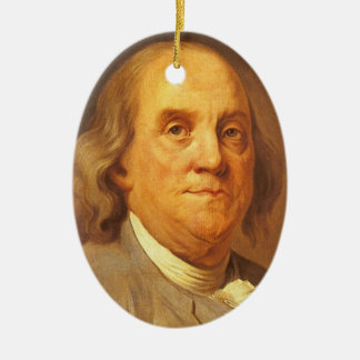 Benjamin Franklin Christmas Ornament