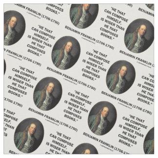 Benjamin Franklin Composes Himself Wiser Books Fabric