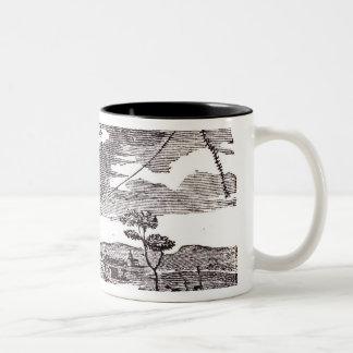 Benjamin Franklin  Conducts his Kite Experiment Two-Tone Coffee Mug
