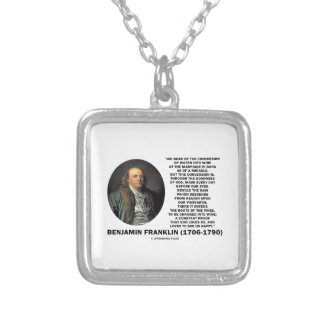 Benjamin Franklin Conversion Of Water Into Wine Silver Plated Necklace