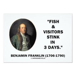 Benjamin Franklin Fish Visitors Stink In 3 Days Custom Invitations