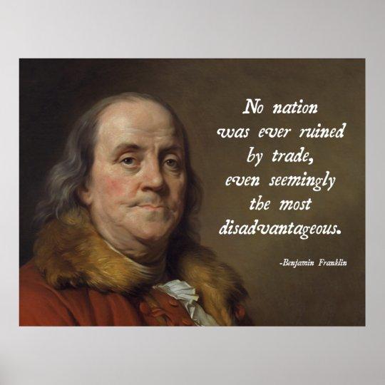 Benjamin Franklin Free Trade Poster