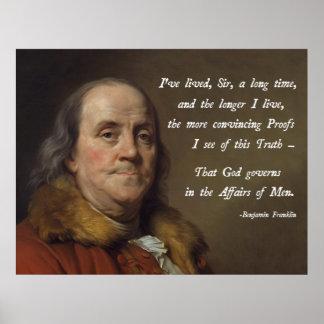 Benjamin Franklin God Poster