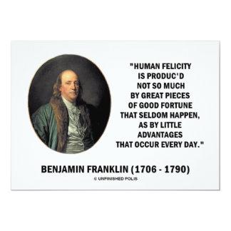 Benjamin Franklin Human Felicity Little Advantages Invite