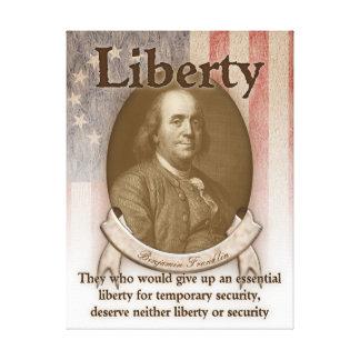 Benjamin Franklin – Liberty Canvas Prints