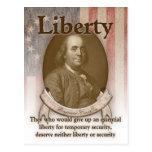 Benjamin Franklin – Liberty Postcard